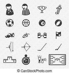 Sport icons set. illustration eps10