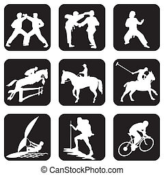 Sport icons - set of vector icons. Sports