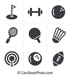 Sport icons Set, Vector Design