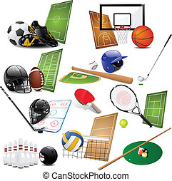 Sport icons - Vector illustration of different sport icons
