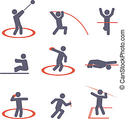 Sport icons. Vector set for you design