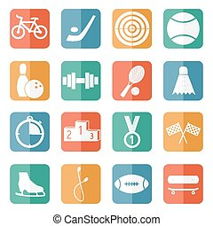 Sport vector icons set for web and mobile.