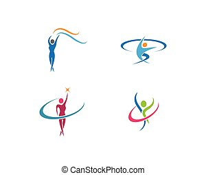 sport, ikona, logo, ilustracja, wektor