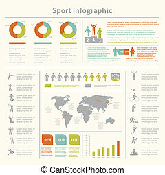 Sport infographic template chart