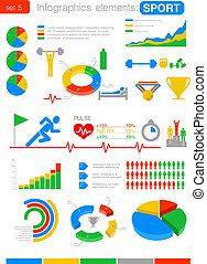 Sport Infographics. Statistics and analytics for business, finance.