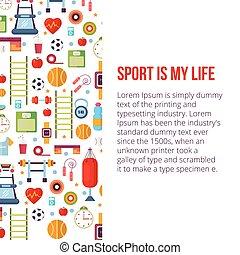 Sport is my life set illustration