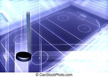 sport, játék, hockey kitart