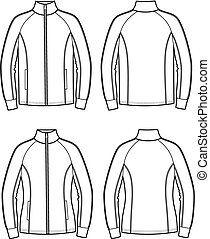 Sport jacket - Vector illustration of men's and women's ...
