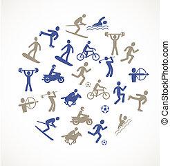 sport, jeux, icônes