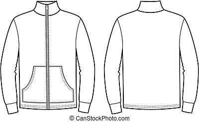 Sport jumper - Vector illustration of sport jumper. Front ...