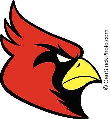sport, kardinal, maskottchen