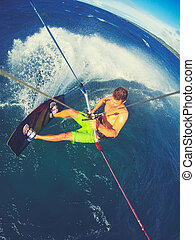 sport, kiteboarding, extrem