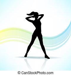 sport, kobieta, sylwetka, stosowność