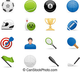 sport, komplet, ikony