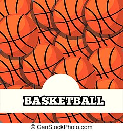 sport, koszykówka, projektować, tło, piłki