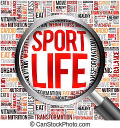 Sport Life word cloud
