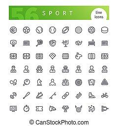 Sport Line Icons Set