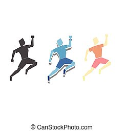 Sport logo athletic vector illustration
