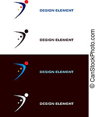 Sport Logo Design Elements - Logo sport templates. Black and...