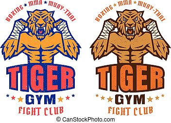 sport logo for fighting club