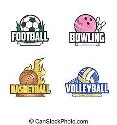 Sport logo set for four sport disciplines