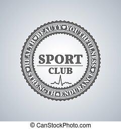 Sport logo, vector