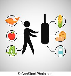 sport man boxing nutrition health