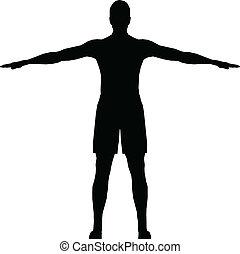 Sport man silhouette