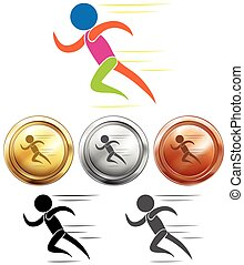 Sport medals and running