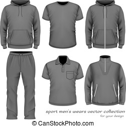 Sport men wear collection. Vector illustration