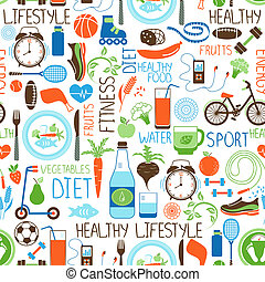 sport, modello, dieta, idoneità