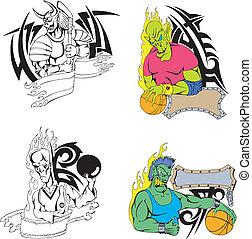 Sport monster template