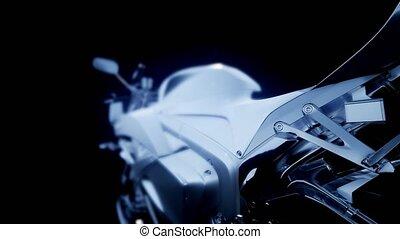 sport moto bike in studio