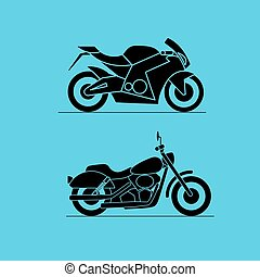 sport motorbike icon design