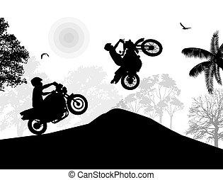 Sport motorbike riders