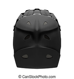 Sport Motorcycle Full Face Helmet Isolated