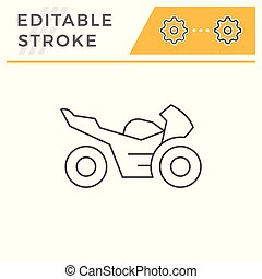 Sport motorcycle line icon