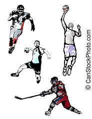 sport, négyes kvartett