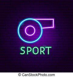 sport, néon, étiquette