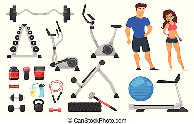 Sport nutrition, equipment and characters
