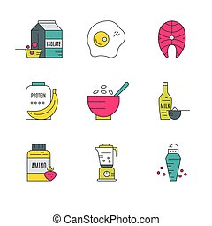 Sport Nutrition Icons