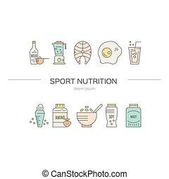 Sport Nutrition Illustration