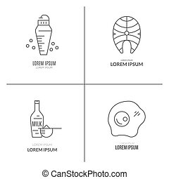 Sport Nutrition Pictograms