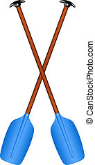 Sport oars - Realistic illustration of sport oars isolated...