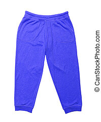 sport pants for children isolated