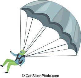 Sport parachuting icon, cartoon style
