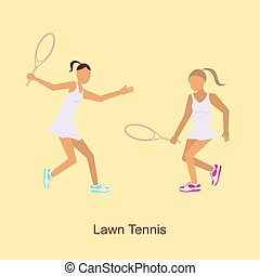 Sport people activities icon Lawn Tennis i