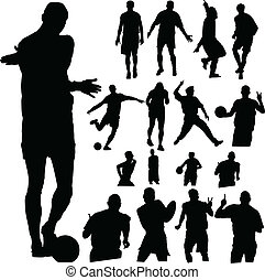 sport people vector silhouettes