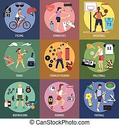 sport, persone, concetti