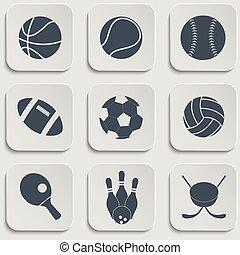 sport, piłka, ikony